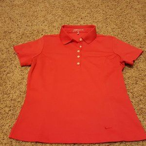 NIKE GOLF DRI FIT STRAWBERRY POLO SZ S EUC